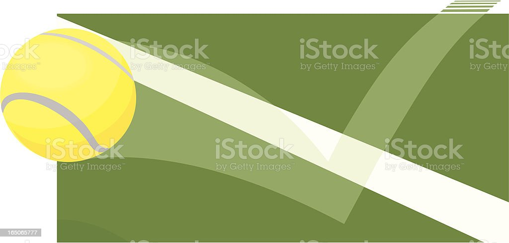 Tennis Ball Out vector art illustration