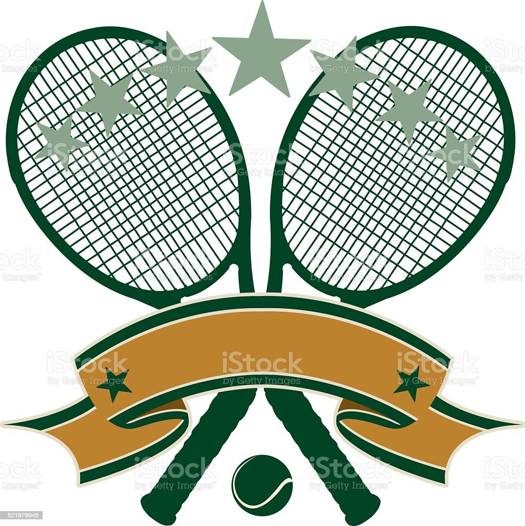 Tennis Banner Background vector art illustration