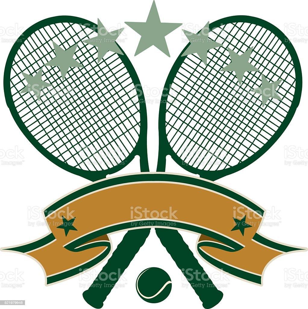 Tennis Banner Background vector art illustration
