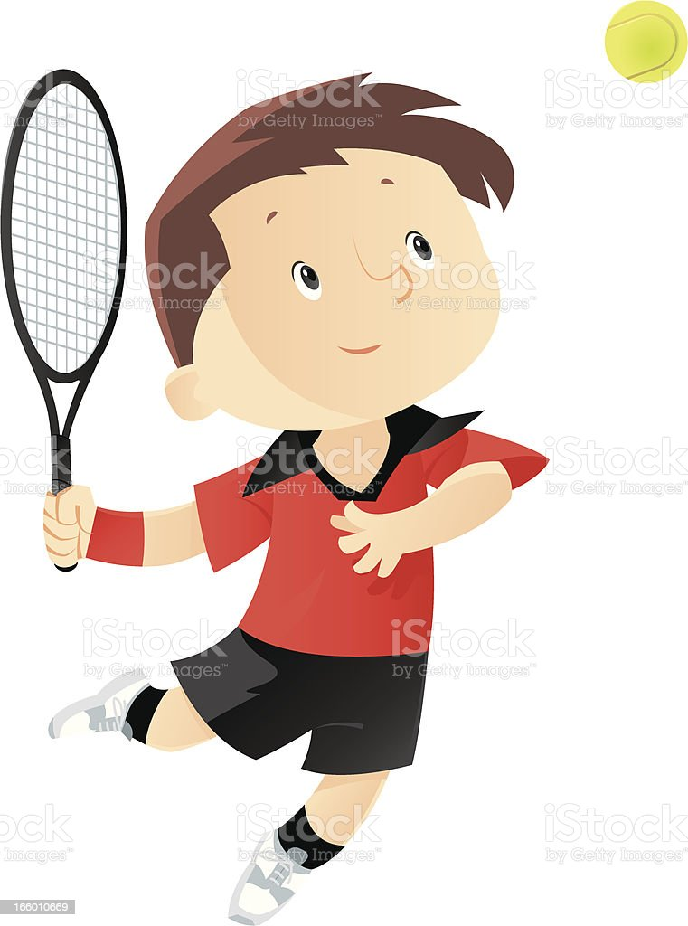 Tennis boy royalty-free stock vector art
