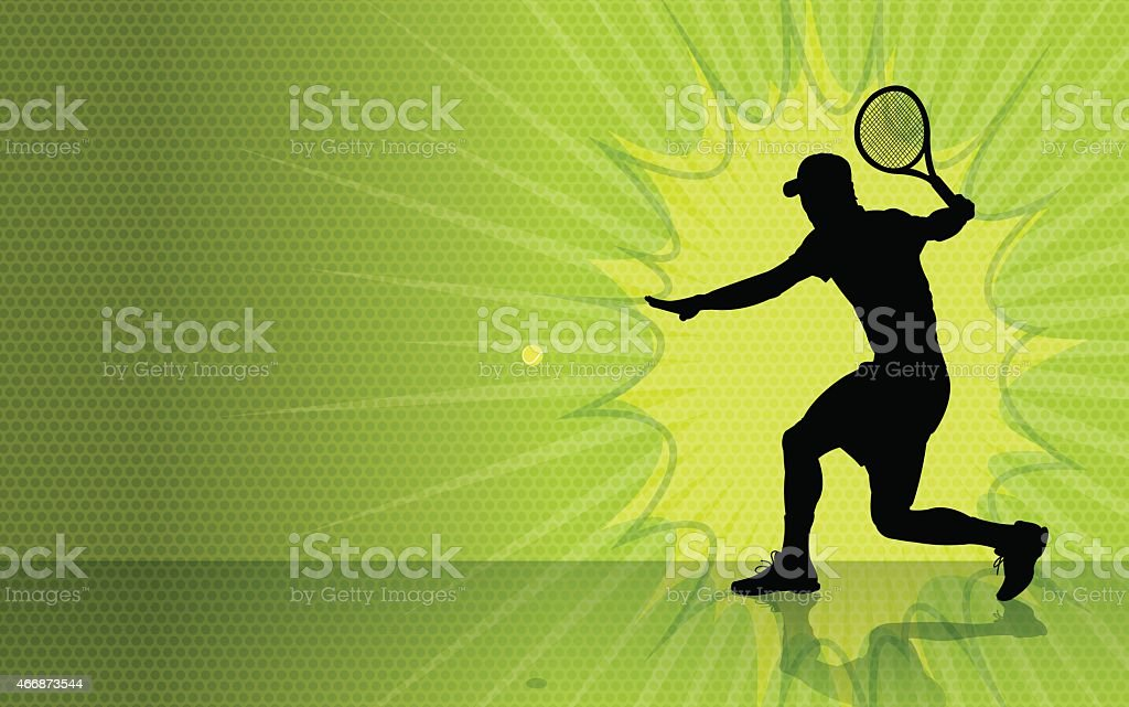 Tennis Burst Background vector art illustration