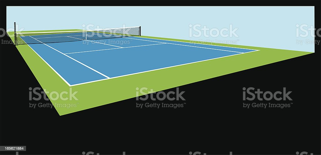 Tennis Court Background vector art illustration