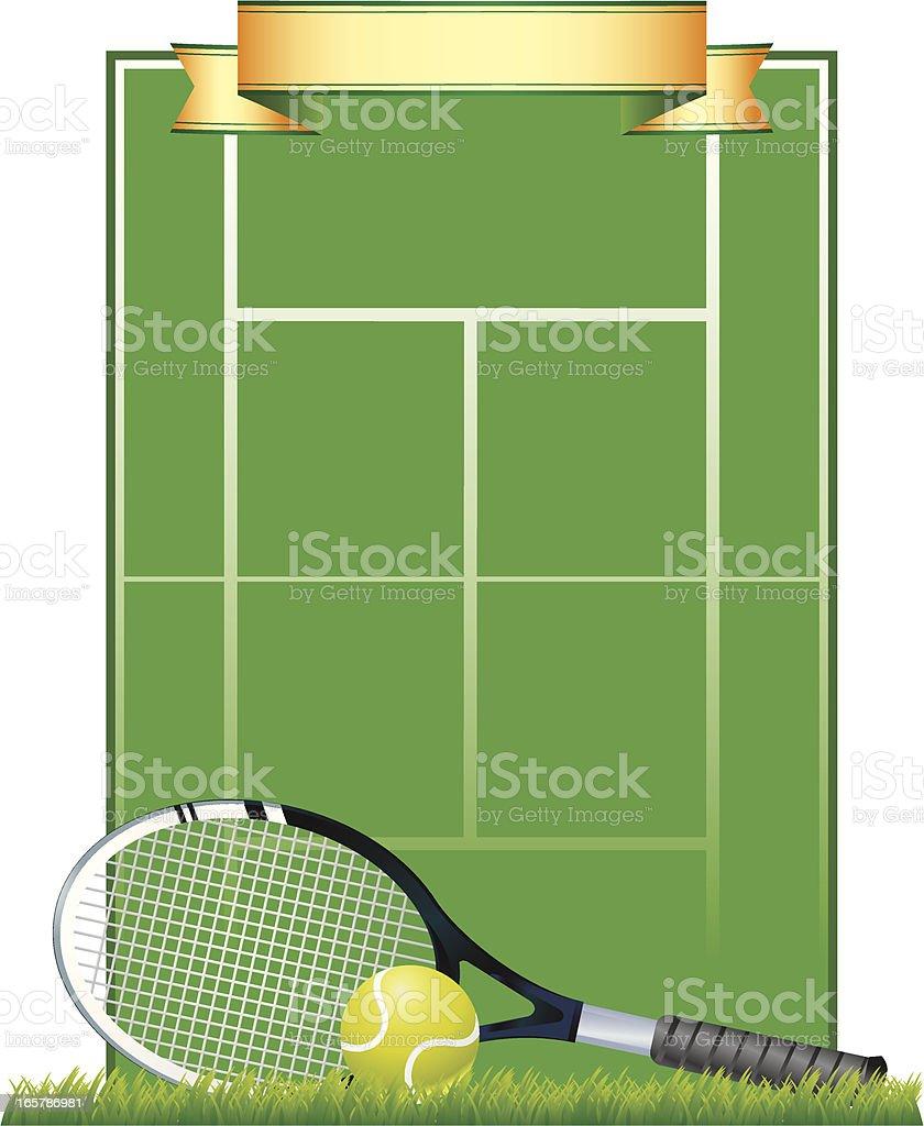 Tennis Court Background vector art illustration