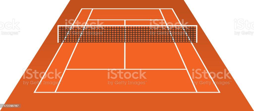 Tennis Court (clay) brick dust stadium royalty-free stock vector art