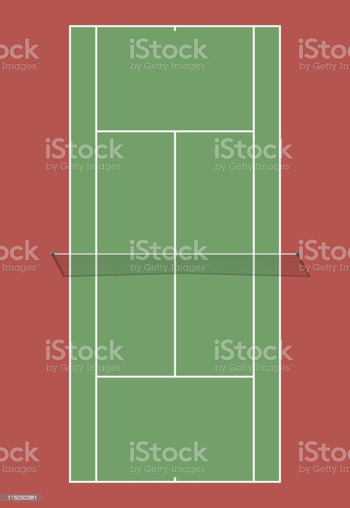 Tennis court vector art illustration