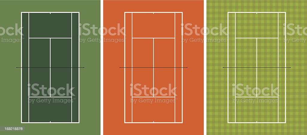 tennis court royalty-free stock vector art