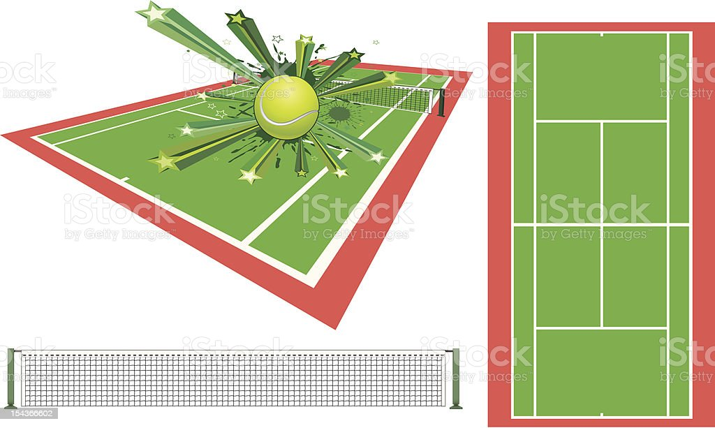 tennis design element vector art illustration