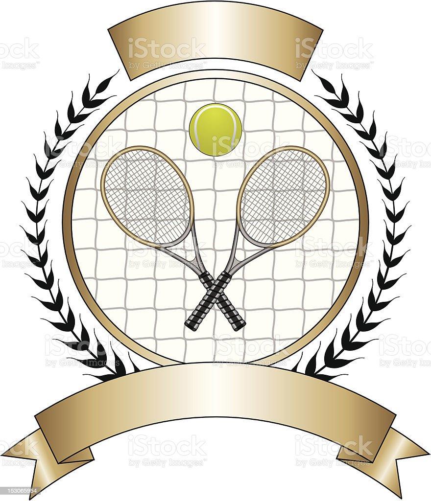 Tennis Design Template Laurel royalty-free stock vector art
