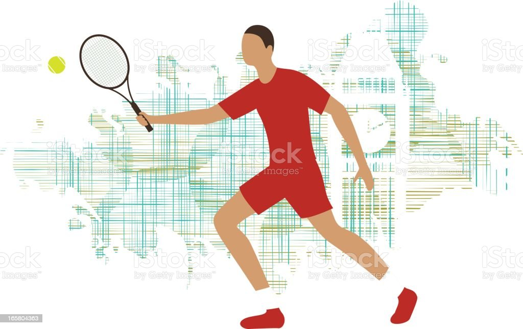 Tennis drive player royalty-free stock vector art