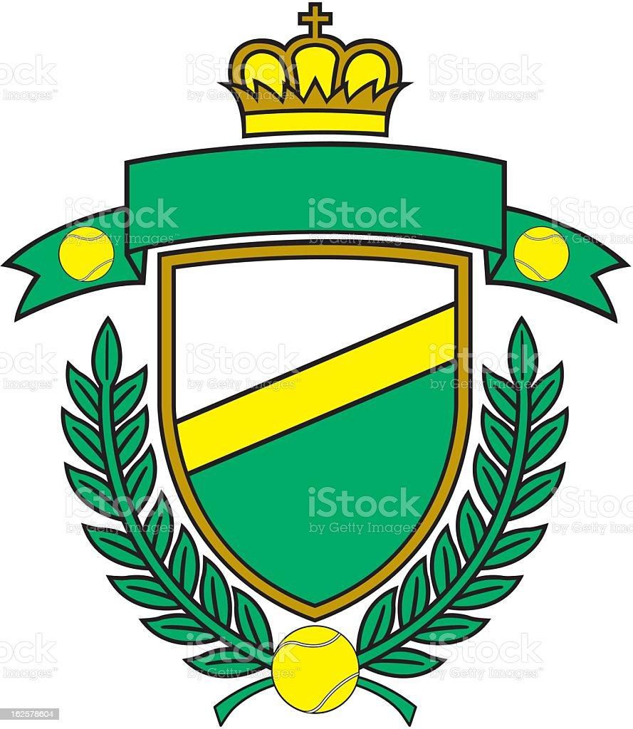 Tennis Emblem royalty-free stock vector art