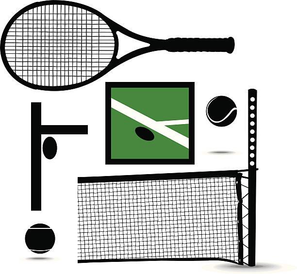 Tennis Net Clip Art, Vector Images & Illustrations - iStock  Tennis Net Vector