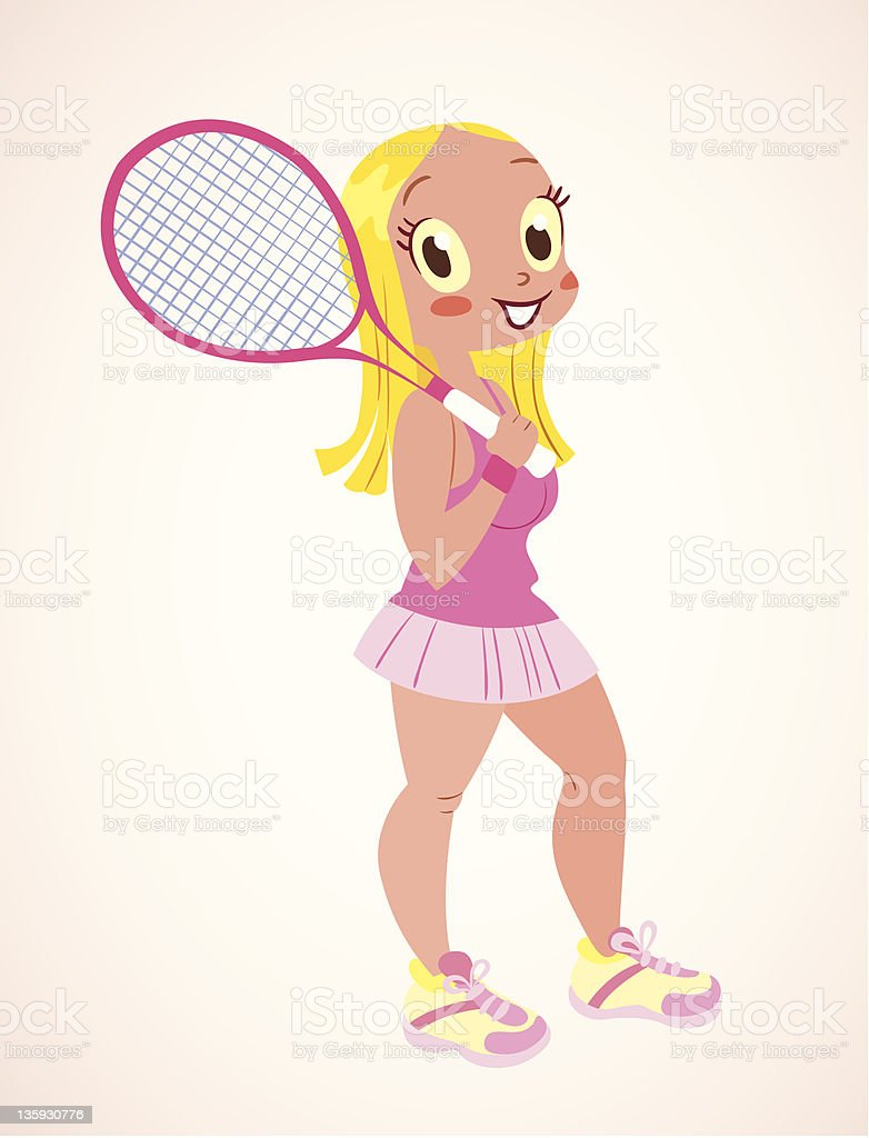 tennis girl royalty-free stock vector art