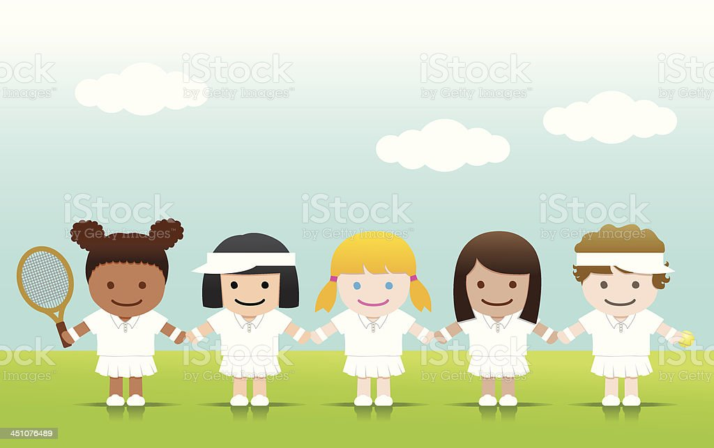 Tennis Girls royalty-free stock vector art