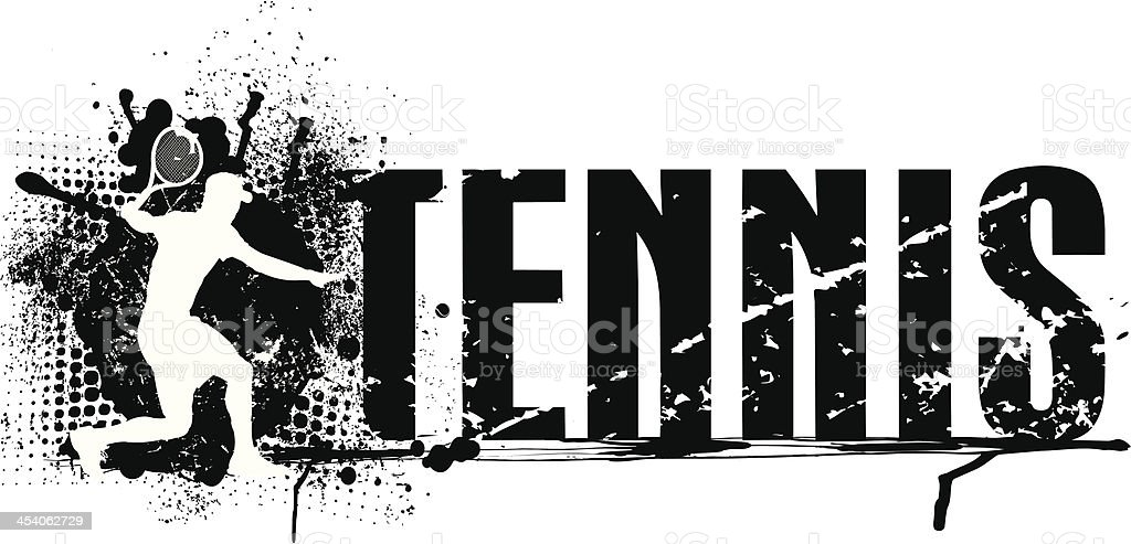Tennis Grunge Graphic royalty-free stock vector art