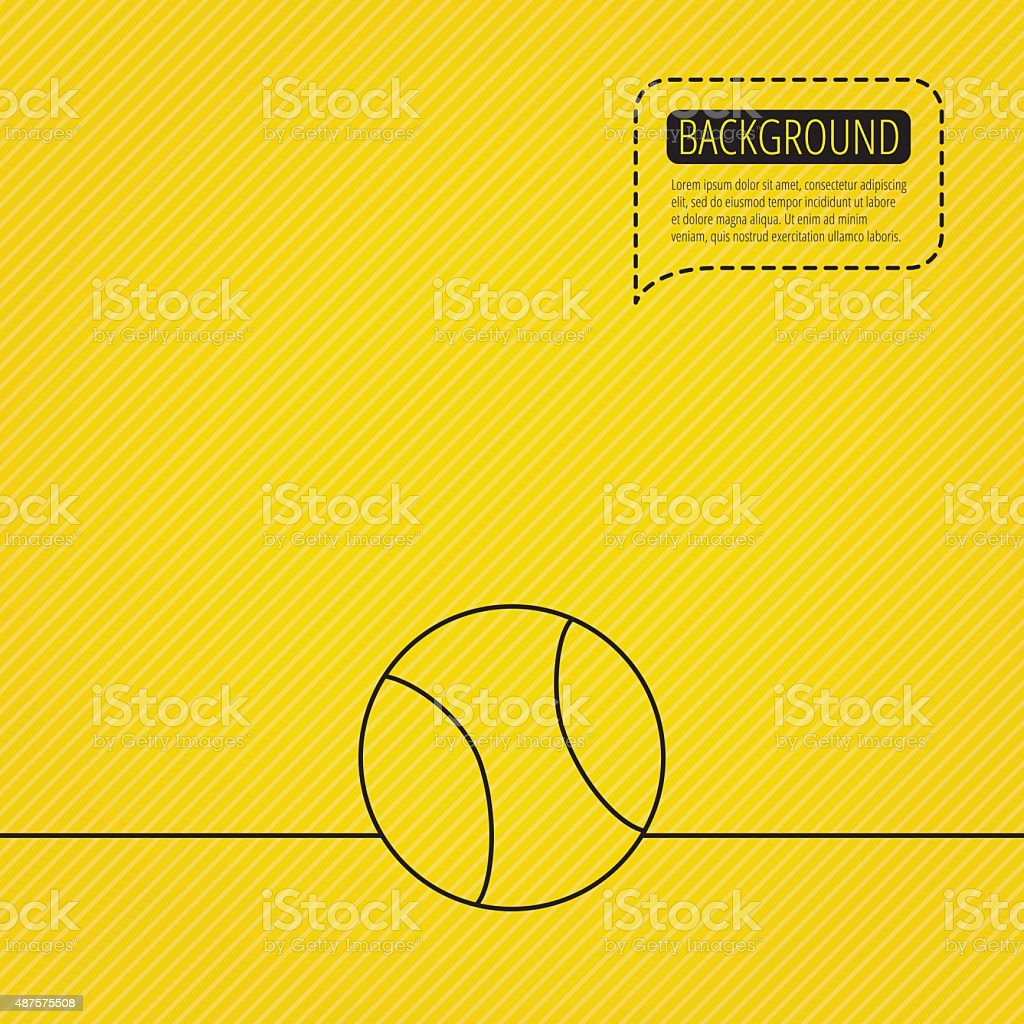 Tennis icon. Sport ball sign. vector art illustration