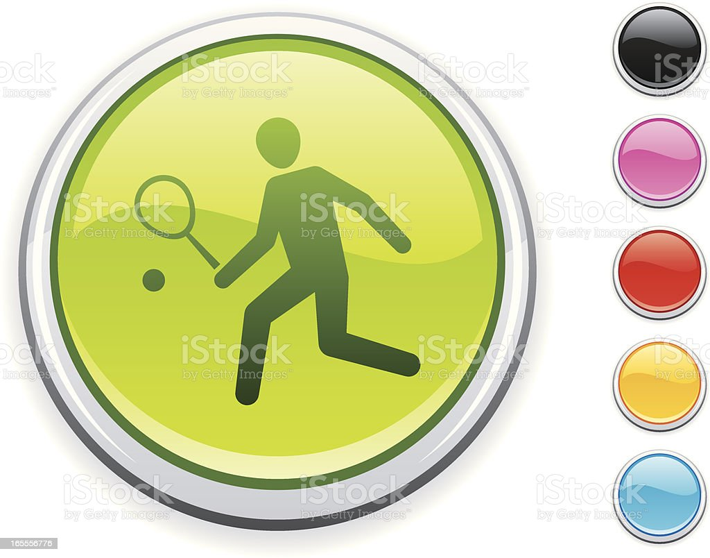 Tennis icon royalty-free stock vector art