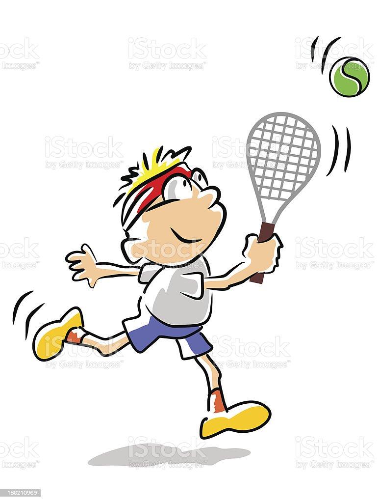 Tennis kid - illustration royalty-free stock vector art