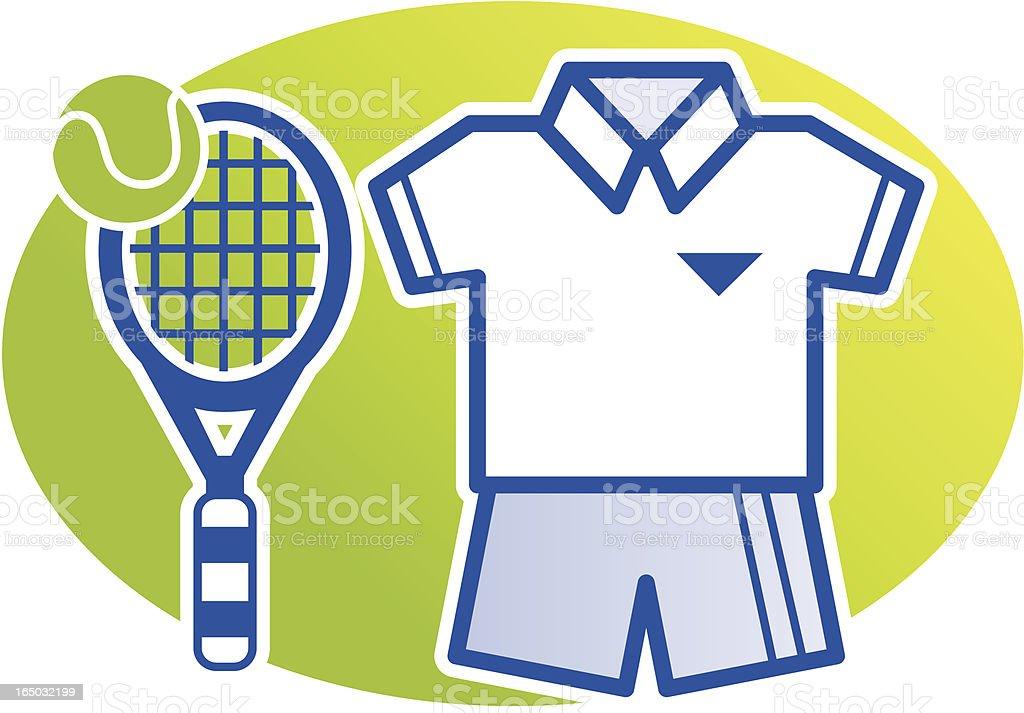 Tennis Kit vector art illustration