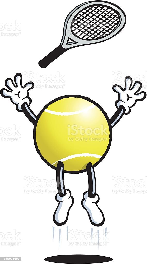 Tennis Man vector art illustration