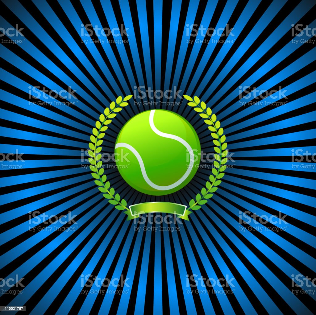 tennis on royalty free vector Background with glow effect royalty-free stock vector art