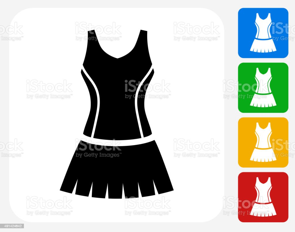 Tennis Outfit Icon Flat Graphic Design vector art illustration