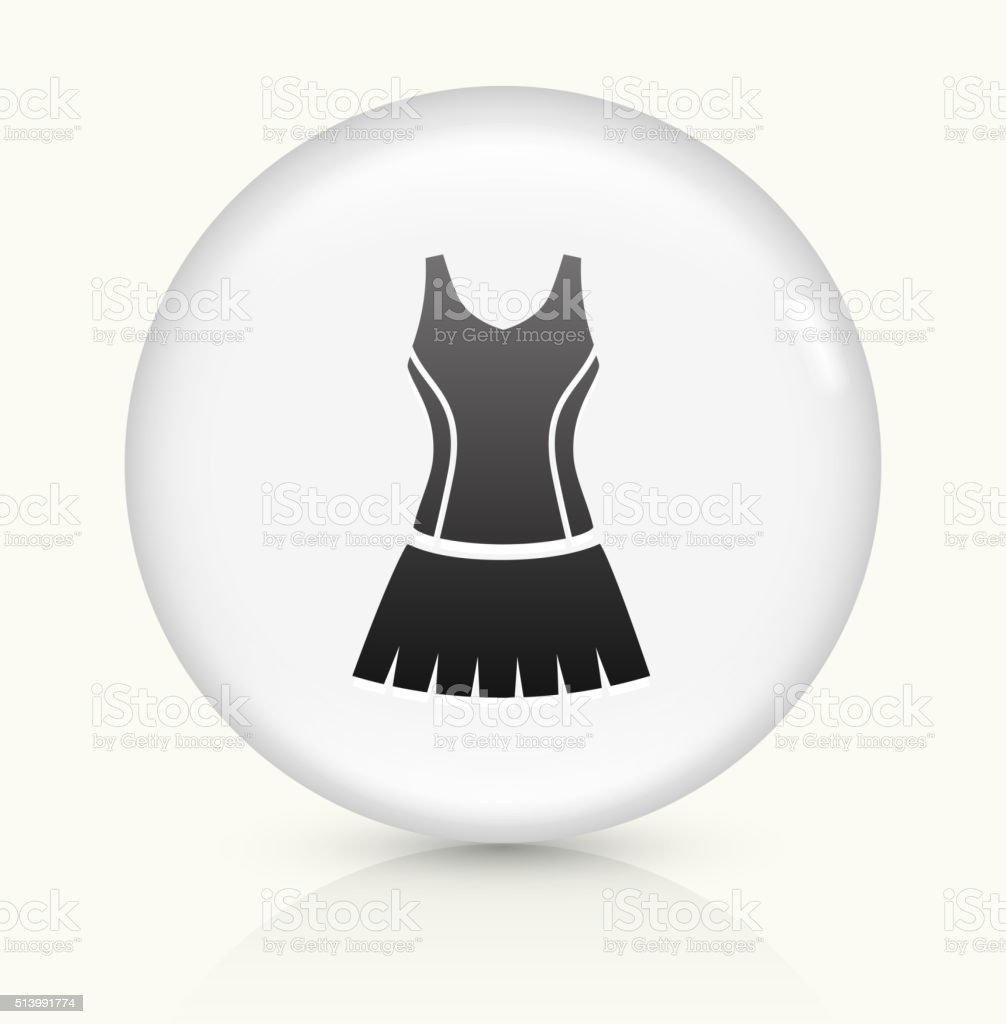 Tennis Outfit icon on white round vector button vector art illustration
