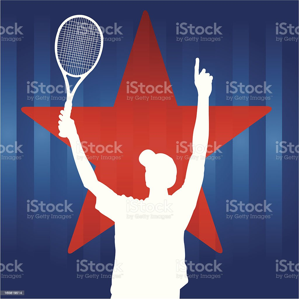 Tennis Player All-Star vector art illustration
