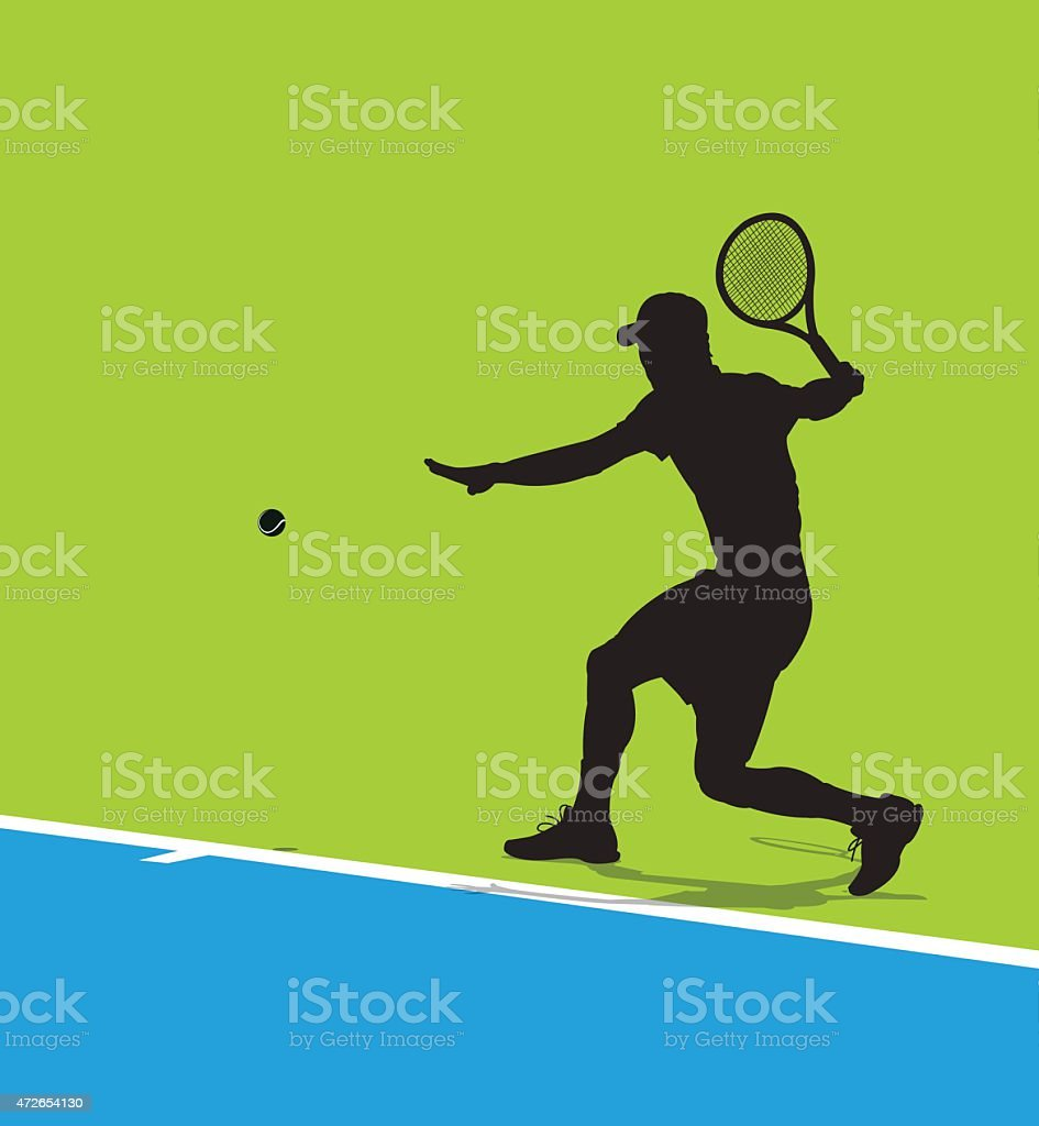 Tennis Player Background vector art illustration
