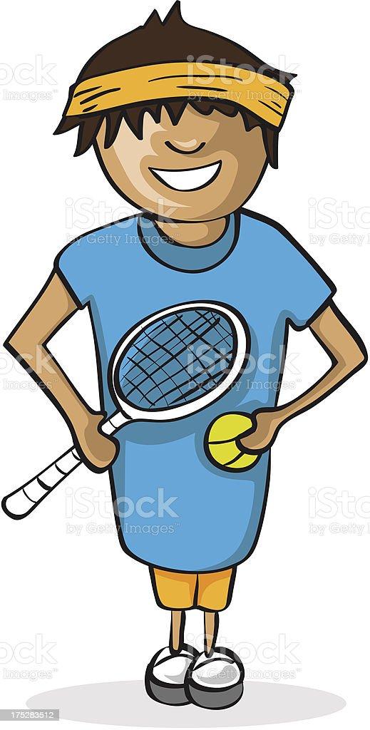 Tennis player man royalty-free stock vector art