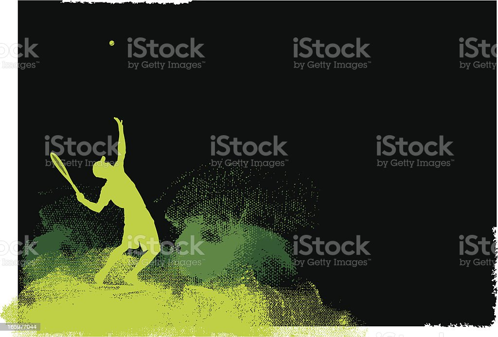 Tennis Player Serve Background - Men royalty-free stock vector art