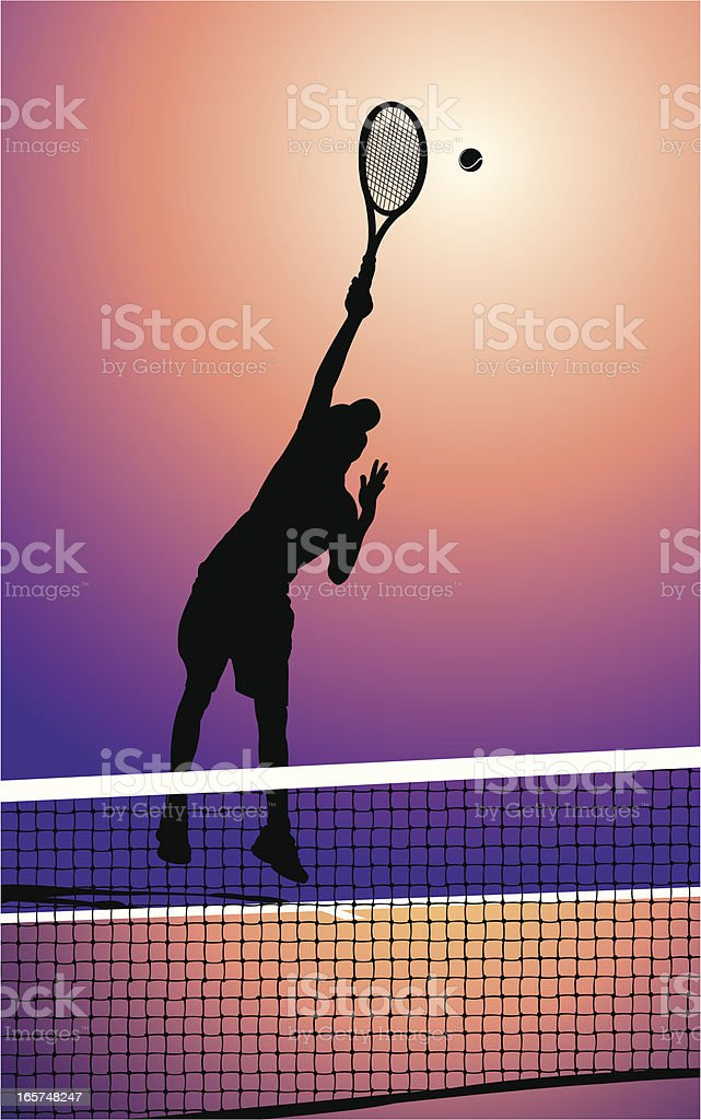 Tennis Player Serving Background royalty-free stock vector art