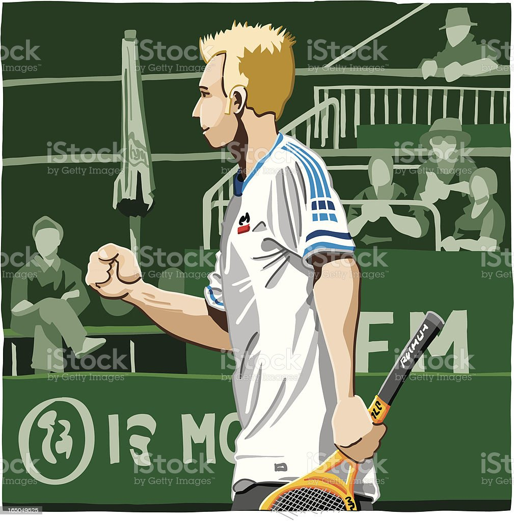 Tennis Player Successful royalty-free stock vector art