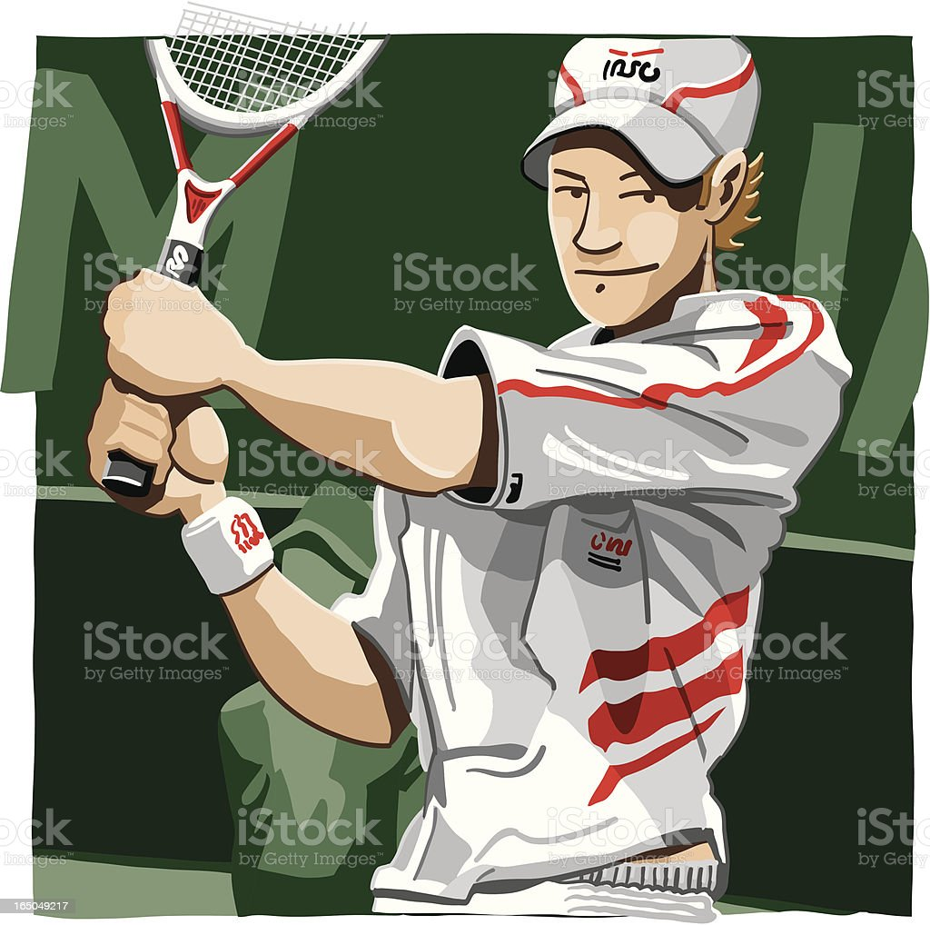 Tennis Player vector art illustration