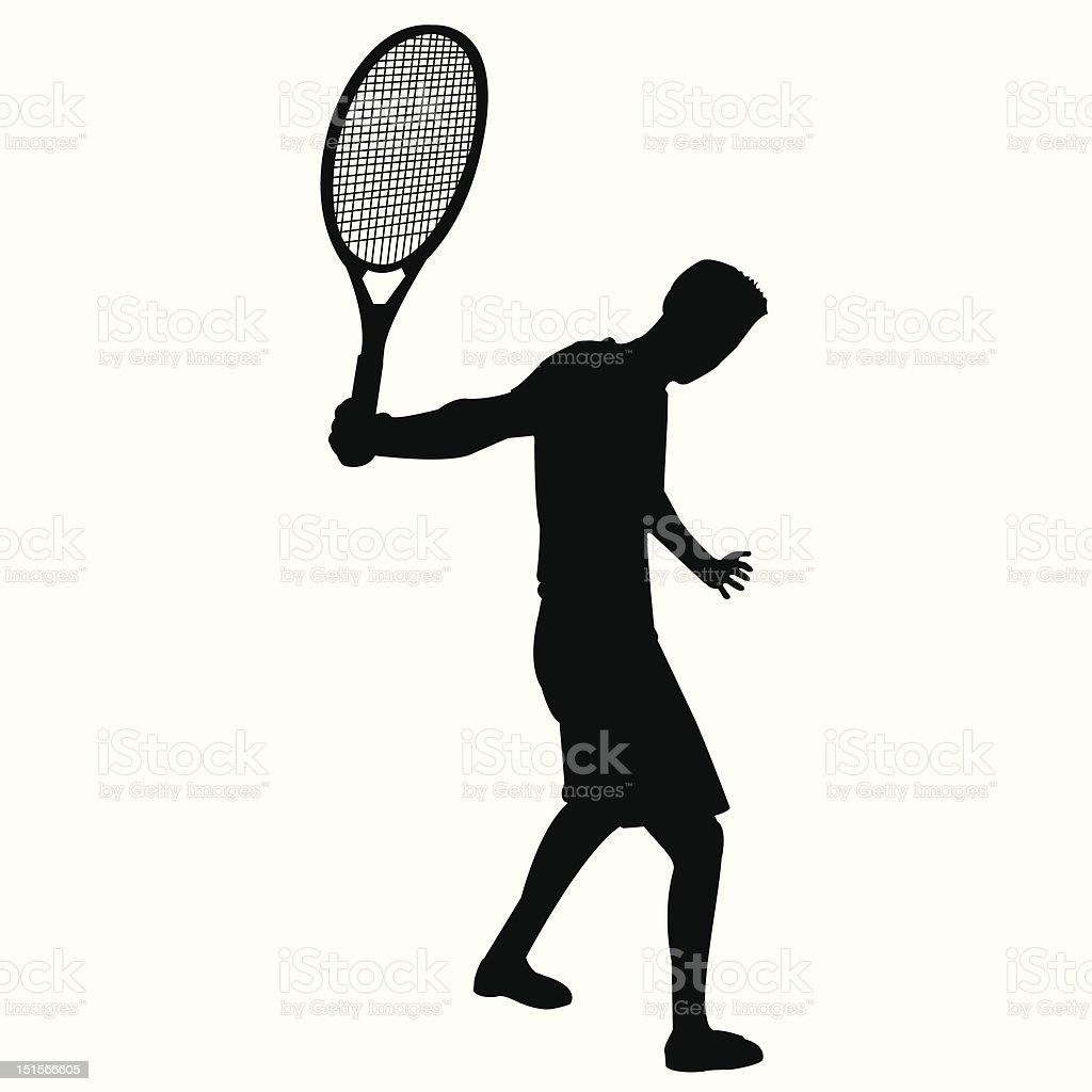 tennis pose royalty-free stock vector art