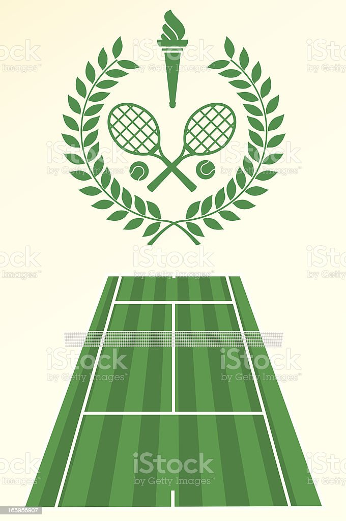 Tennis poster and emblem royalty-free stock vector art