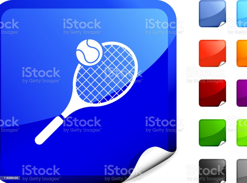 tennis racket and ball internet royalty free vector art royalty-free stock vector art