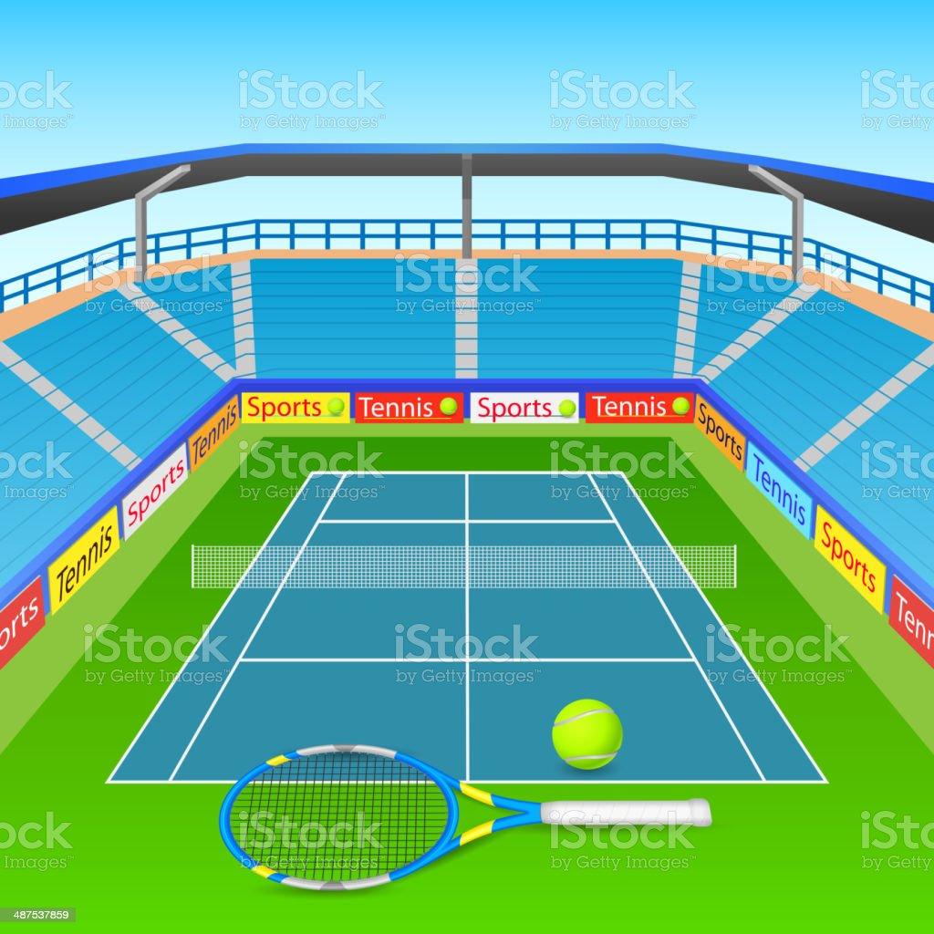 Tennis racket and ball royalty-free stock vector art