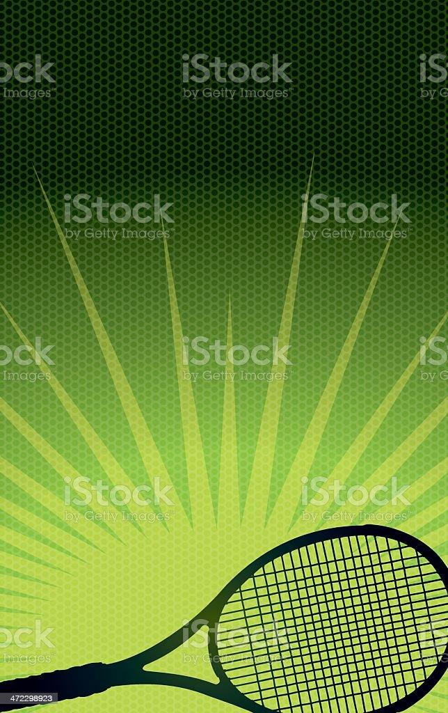 Tennis Racket Burst Background royalty-free stock vector art