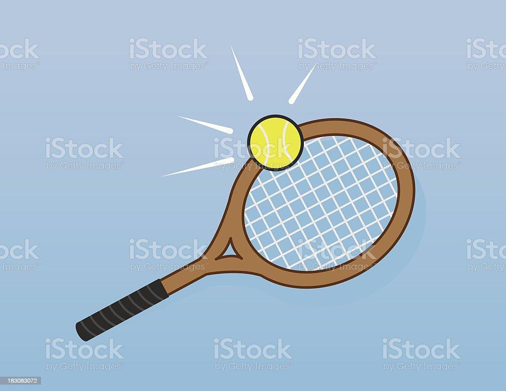 Tennis Racket Hit royalty-free stock vector art