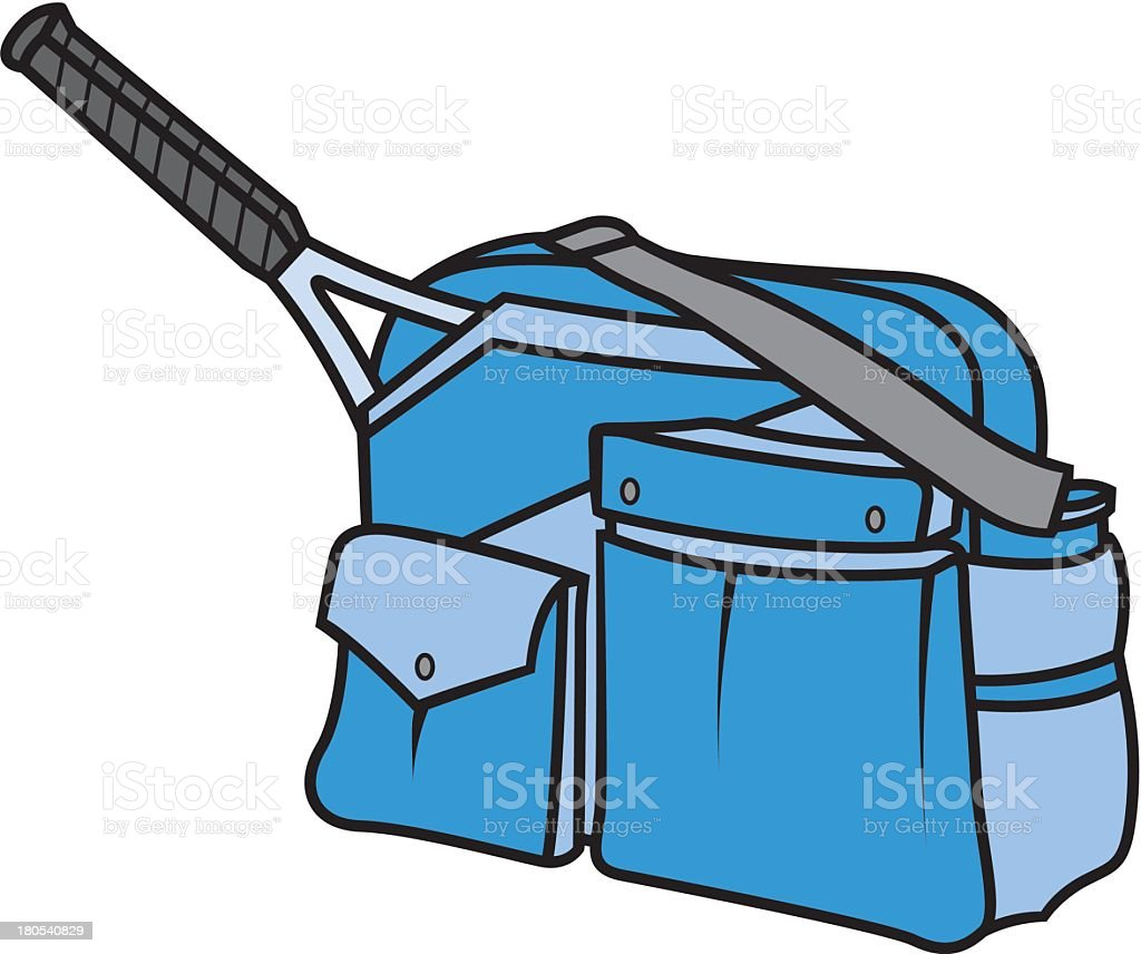 Tennis Racket In Bag royalty-free stock vector art
