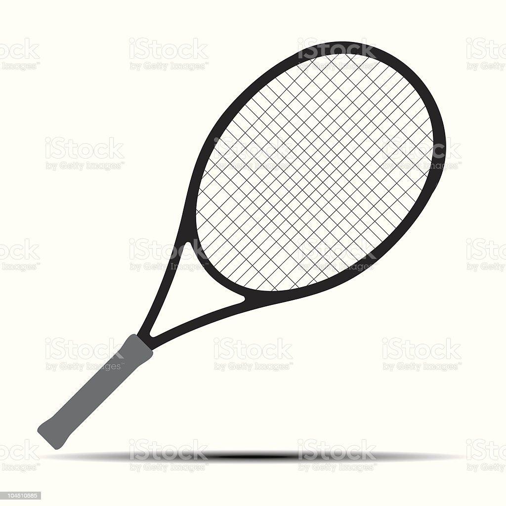 Tennis racket silhouette. Vector design element. royalty-free stock vector art