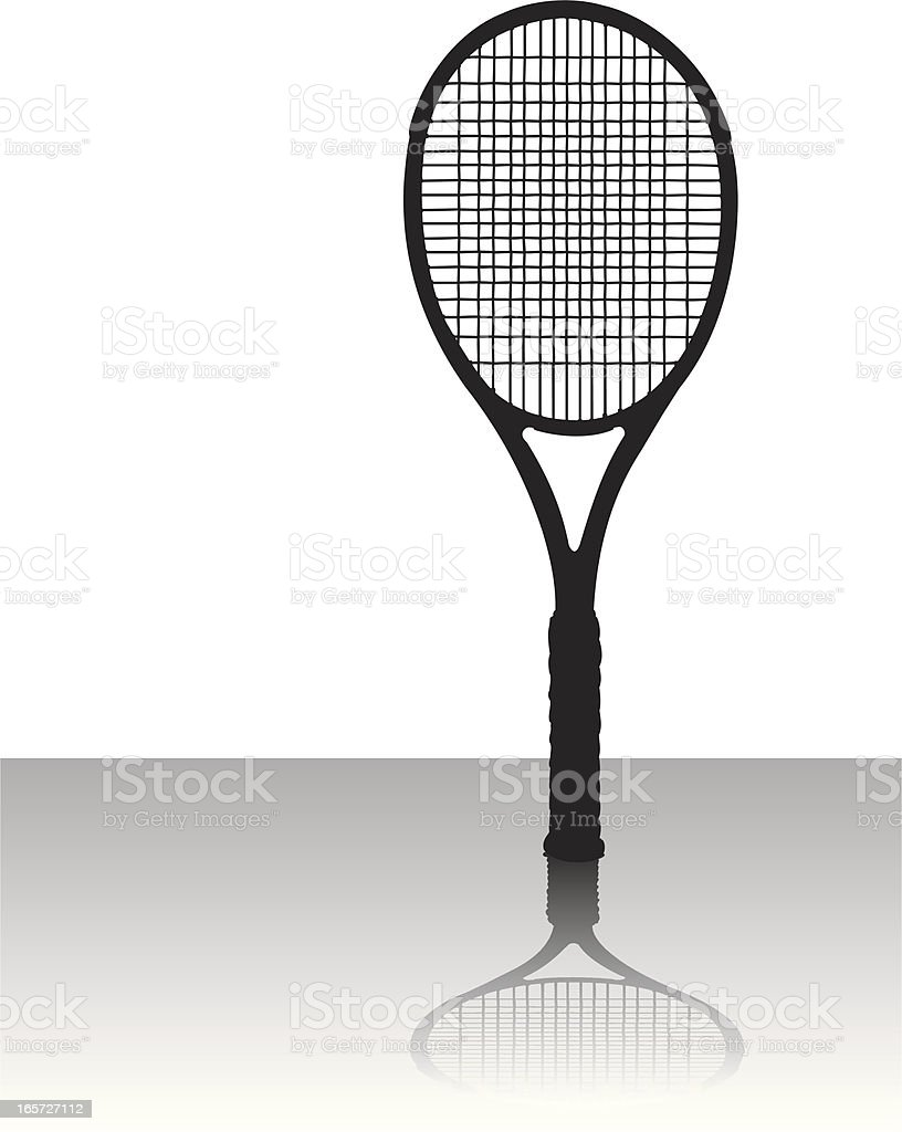 Tennis Racket - Sports Equipment Silhouette vector art illustration