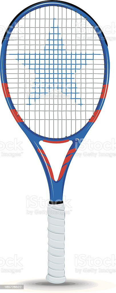Tennis Racket Sports Equipment Star vector art illustration