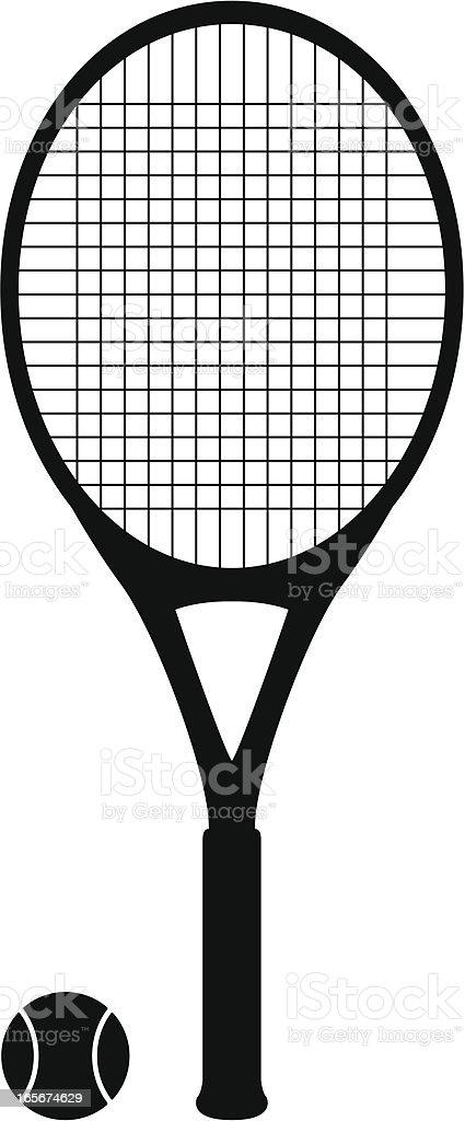 tennis racket vector art illustration
