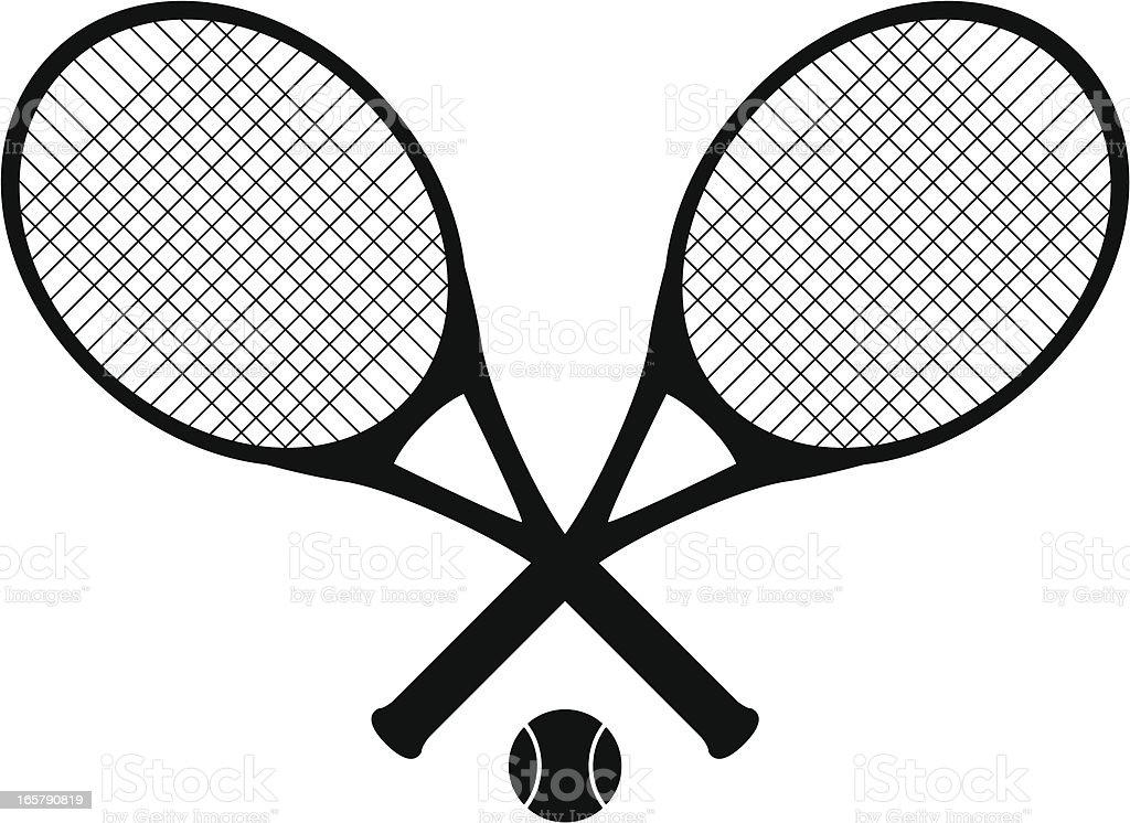 tennis rackets vector art illustration