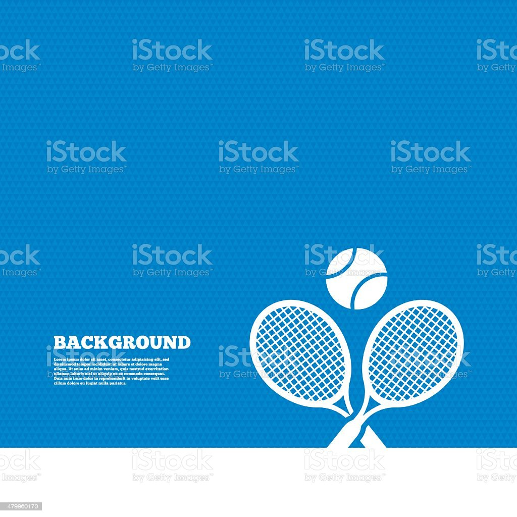 Tennis rackets with ball sign icon. Sport symbol vector art illustration