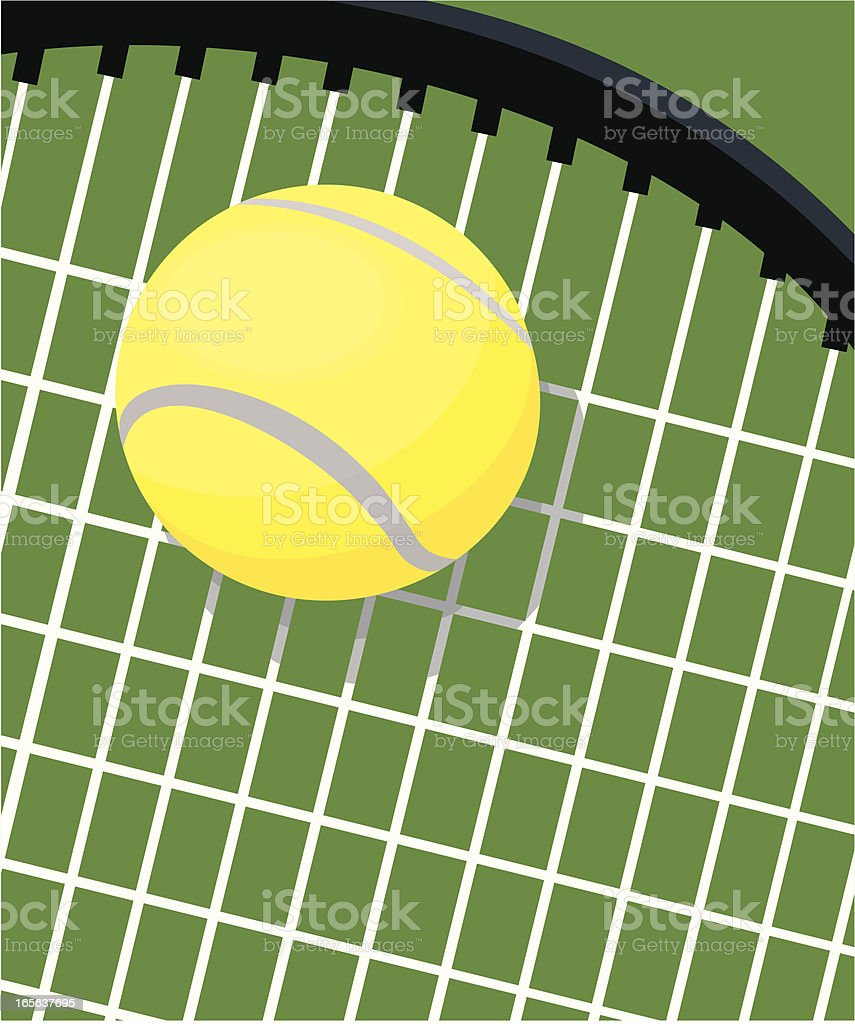 Tennis Racquet and Ball vector art illustration