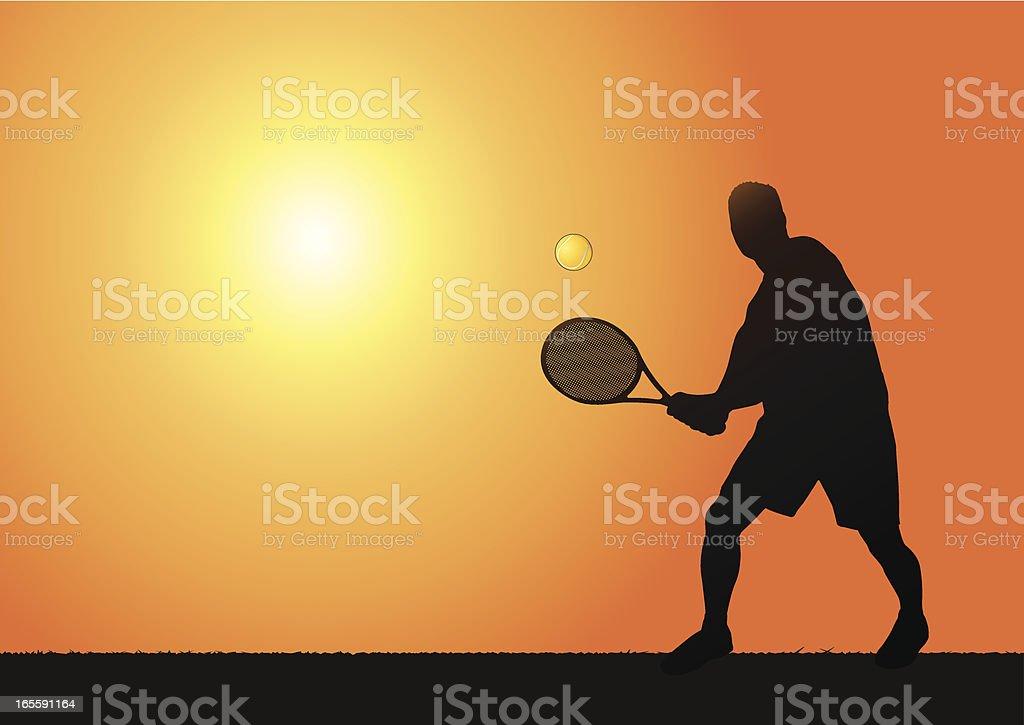 Tennis scene royalty-free stock vector art