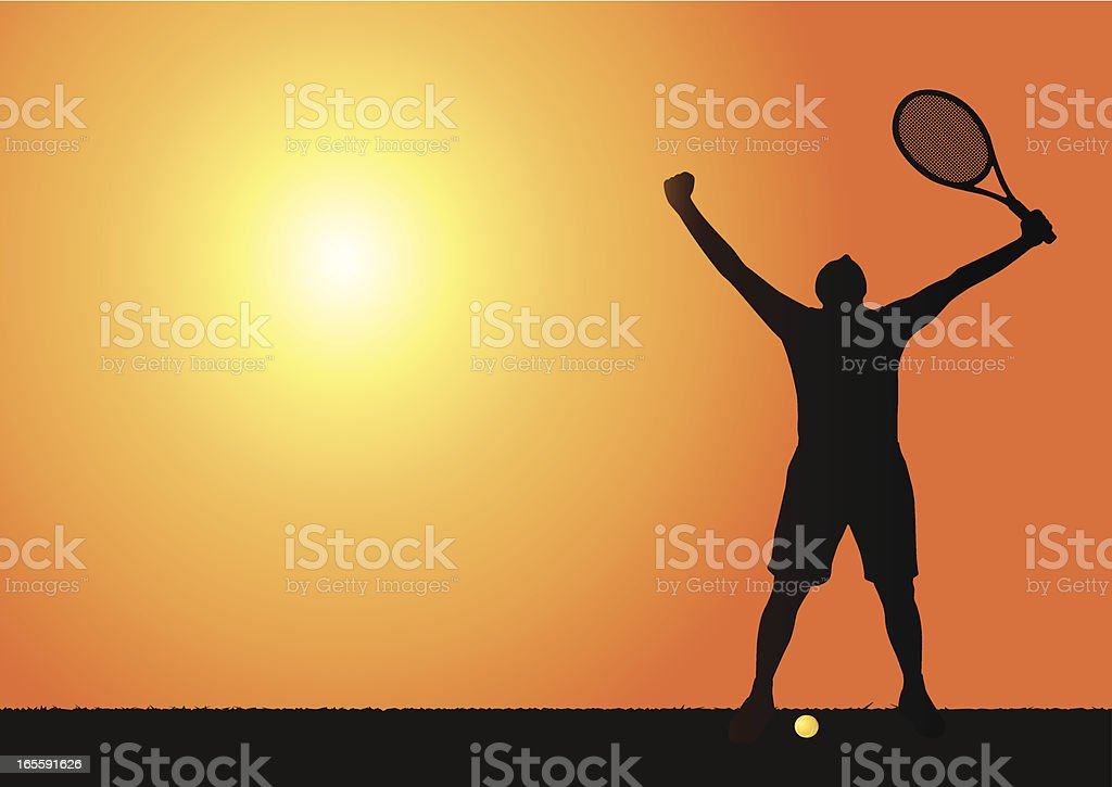 Tennis scene royalty-free stock vector art