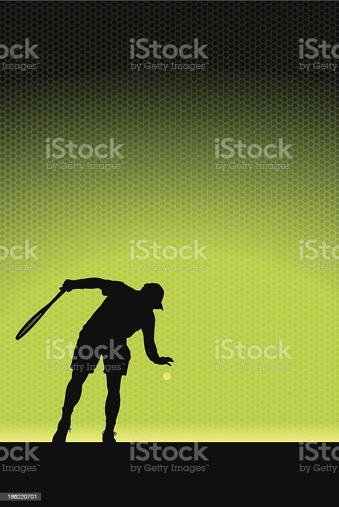 Tennis Serve Background -Male royalty-free stock vector art